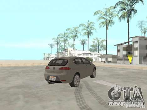 Seat Leon Cupra for GTA San Andreas back left view