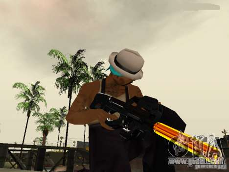 Black and Yellow weapons for GTA San Andreas fifth screenshot