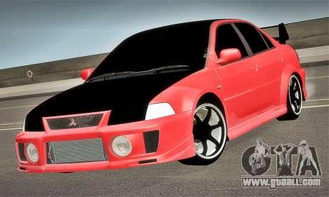 Mitsubishi Lancer Evolution 6 for GTA San Andreas right view