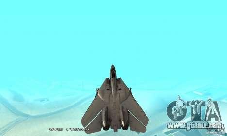F14W Super Weirdest Tomcat Skin 1 for GTA San Andreas interior
