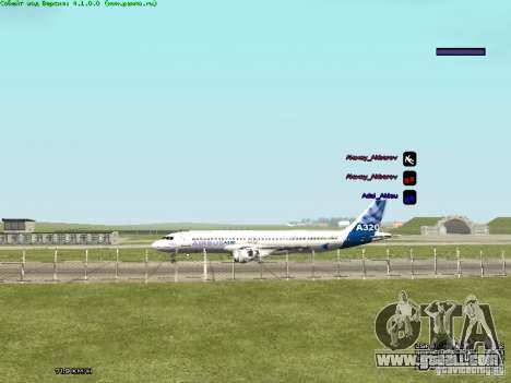Airbus A320-300 for GTA San Andreas back left view