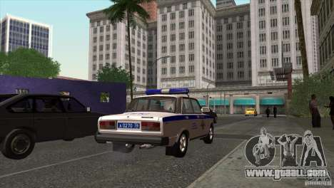 VAZ 2107 PPP Arzamas for GTA San Andreas back left view