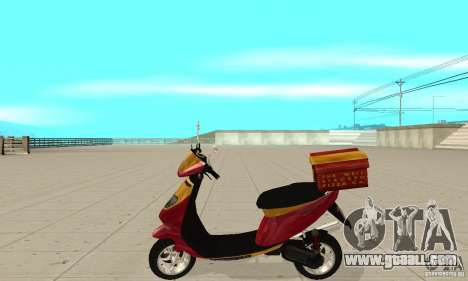 GTAIV Pizzaboy for GTA San Andreas left view