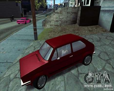 Volkswagen Golf MK 1 GTI for GTA San Andreas left view