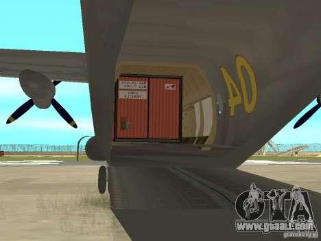 Antonov An-12 for GTA San Andreas right view