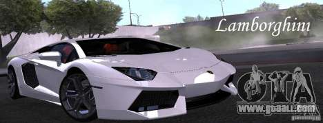 Lamborghini Aventador LP700-4 Final for GTA San Andreas