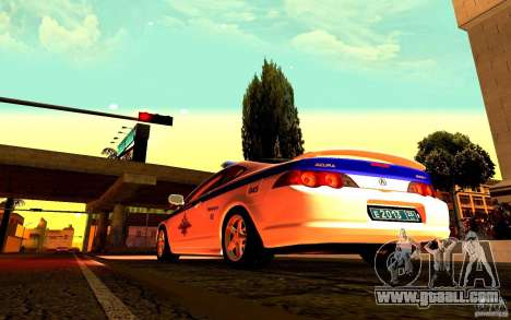 Acura RSX-S Police for GTA San Andreas right view