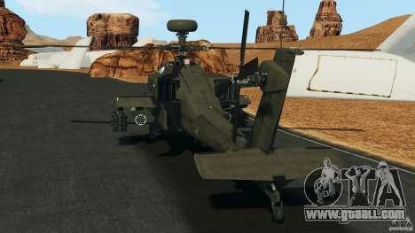 Boeing AH-64 Longbow Apache v1.1 for GTA 4 back left view