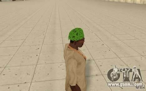 Bandana green maryshuana for GTA San Andreas second screenshot