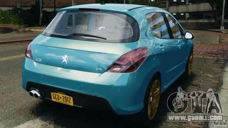 Peugeot 308 GTi 2011 v1.1 for GTA 4 back left view