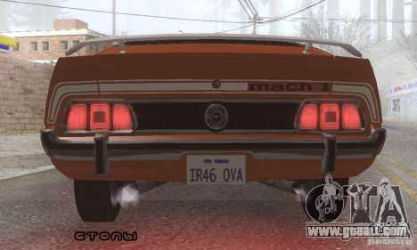 Ford Mustang Mach1 1973 for GTA San Andreas interior