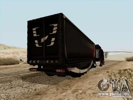 Aero Dynamic Trailer for GTA San Andreas back left view