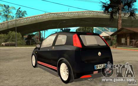 Fiat Grande Punto 3.0 Abarth for GTA San Andreas back left view