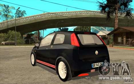 Fiat Grande Punto 3.0 Abarth for GTA San Andreas back left view
