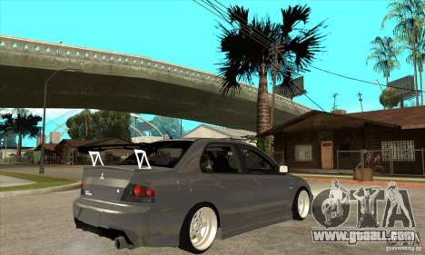 Mitsubishi Lancer Evolution 8 for GTA San Andreas right view