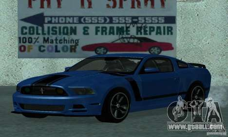 Ford Mustang Boss 302 2013 for GTA San Andreas left view