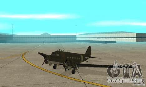 C-47 Skytrain for GTA San Andreas left view