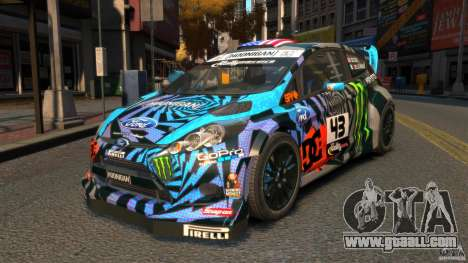 Ford Fiesta Rallycross Ken Block (Hoonigan) 2013 for GTA 4
