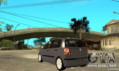 Volkswagen Polo 2008 for GTA San Andreas back left view