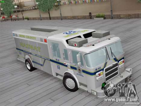 Pierce Fire Rescues. Bone County Hazmat for GTA San Andreas back left view