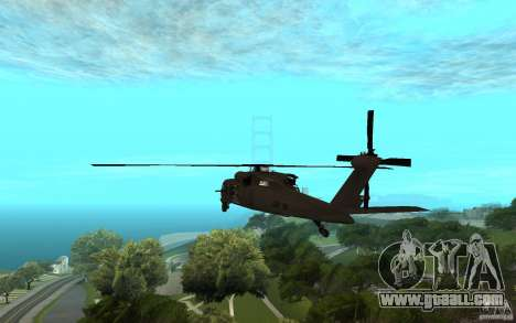 MH-60L Blackhawk for GTA San Andreas left view