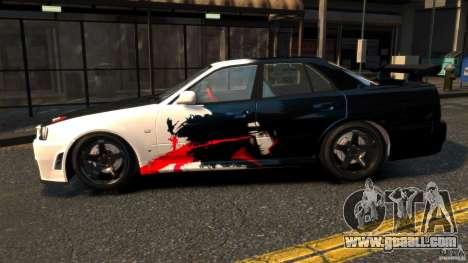 Nissan Skyline ER34 Nismo Z Tune for GTA 4 left view