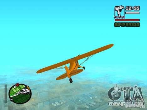 Piper J-3 Cub for GTA San Andreas right view