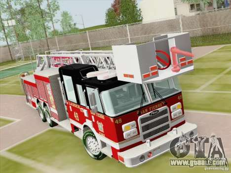 Pierce Rear Mount SFFD Ladder 49 for GTA San Andreas side view