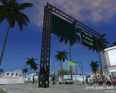 Road signs v1.0 for GTA San Andreas third screenshot
