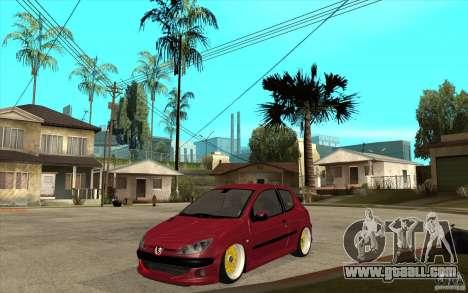 Peugeot 206 GTI for GTA San Andreas