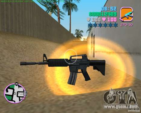 M4 from Counter Strike Source for GTA Vice City