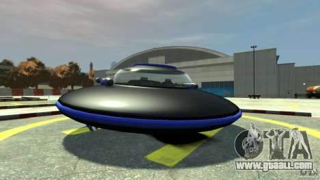 UFO neon ufo blue for GTA 4 back left view