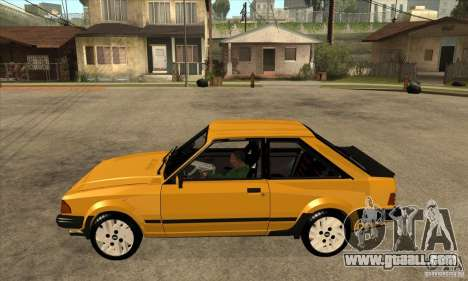 Ford Escort XR3 1986 for GTA San Andreas left view