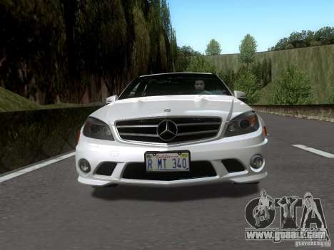 Mercedes-Benz C63 AMG 2010 for GTA San Andreas back left view