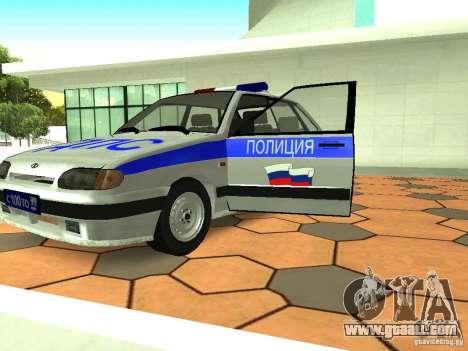 ВАЗ 2114 Police for GTA San Andreas inner view