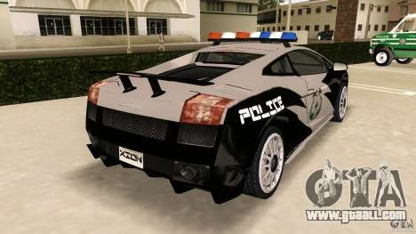 Lamborghini Gallardo Police for GTA Vice City back left view