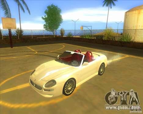 Maserati Spyder Cambiocorsa for GTA San Andreas
