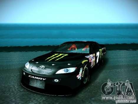 Toyota Camry Nascar Monster Energi Nr.7 for GTA San Andreas