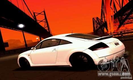 Audi TT Light Tuning for GTA San Andreas left view