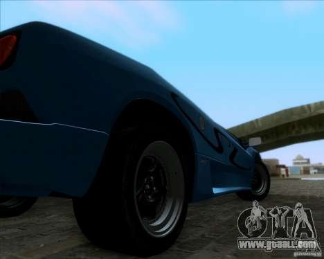 Lamborghini Diablo SV V1.0 for GTA San Andreas back left view