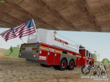 Seagrave Marauder. F.D.N.Y. Tower Ladder 186 for GTA San Andreas left view