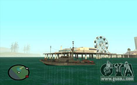 Military boat from CODMW3 for GTA San Andreas right view