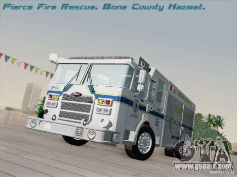 Pierce Fire Rescues. Bone County Hazmat for GTA San Andreas