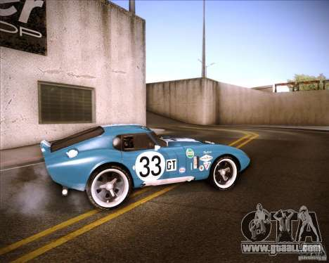 Shelby Cobra Daytona Coupe 1965 for GTA San Andreas left view