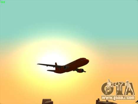 Airbus A320-214 EasyJet 200th Plane for GTA San Andreas bottom view
