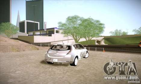 Nissan Leaf 2011 for GTA San Andreas back left view