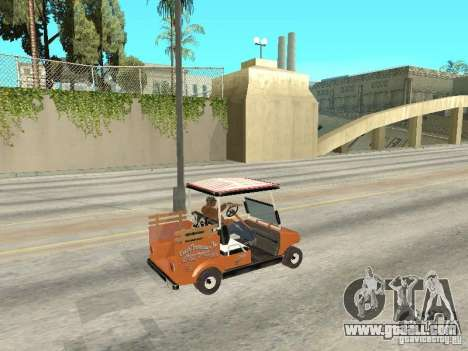 Golfcart caddy for GTA San Andreas back left view