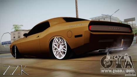 Dodge Challenger Socado Com Rotiform FIXA for GTA San Andreas left view