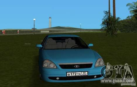 Lada Priora Hatchback v2.0 for GTA Vice City back view