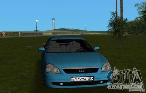 Lada Priora Hatchback v2.0 for GTA Vice City back view